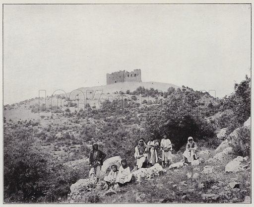 Adjloun, the Castle. Illustration for Album de Terre Sainte (Holy Land Album) (Maison de la Bonne Presse, c 1900).