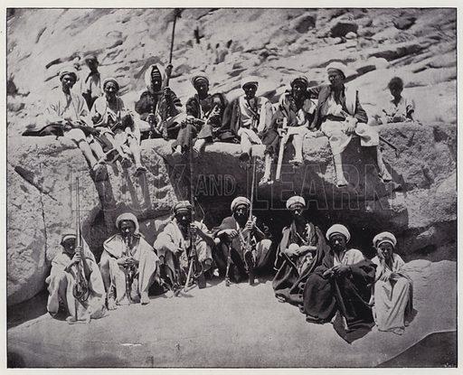 Moabiton types, Armed Bedouins. Illustration for Album de Terre Sainte (Holy Land Album) (Maison de la Bonne Presse, c 1900).