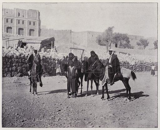 Moabiton types, Bedouin guides. Illustration for Album de Terre Sainte (Holy Land Album) (Maison de la Bonne Presse, c 1900).