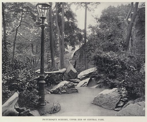 Picturesque Scenery, Upper End of Central Park