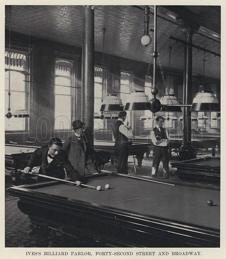 Ives's Billiard Parlor, Forty-Second Street and Broadway
