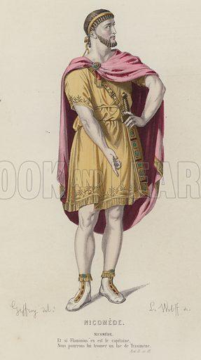 Nicomede, Act II, Sc III. Illustration for Oeuvres de P Corneille (A Laplace, Sanchez, 1884). Dessins de M Geffroy.