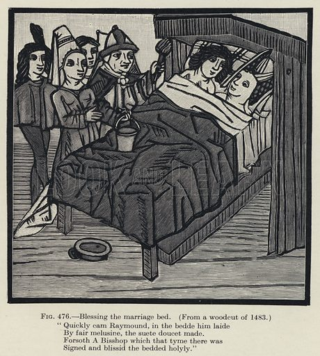 Blessing the marriage bed. Illustration for Woman, An Historical, Gynaecological and Anthropological Compendium, by Herman Heinrich Ploss, Max Bartels and Paul Bartels, edited by Eric John Dingwall (Heinemann, 1935).