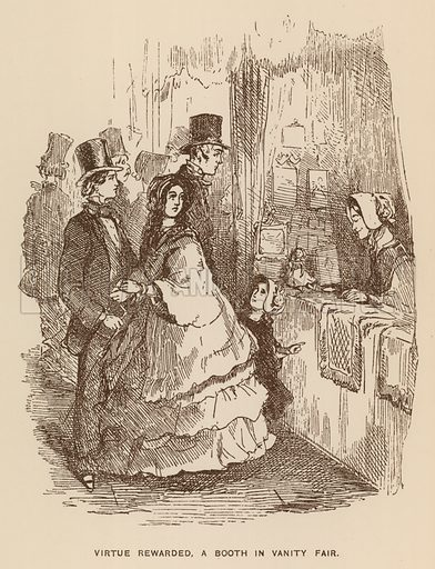 Illustration for Vanity Fair by Thackeray - Look and Learn