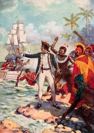 """Резултат с изображение за """"Джеймс Кук открива остров Мауи"""""""""""