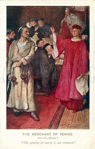 Scene from Shakespeare's The Merchant of Venice