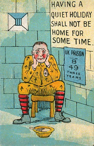 Crime and punishment: a prisoner in his cell