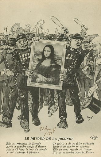 Theft of the Mona Lisa: the return of the painting to Paris, 1913