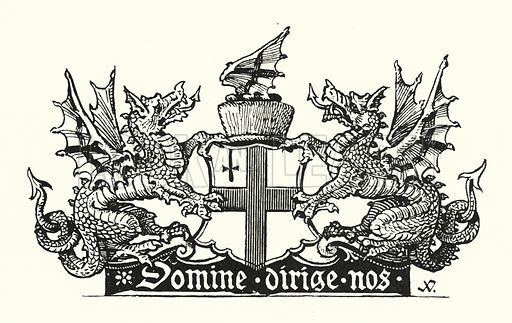 Arms of the City of London. Illustration for Fictitious and Symbolic Creatures in Art by John Vinycomb Chapman and Hall, 1906).