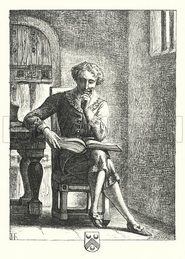 In Prison. Illustration for English Sacred Poetry edited by Robert Aris Willmott (Routledge, 1862).