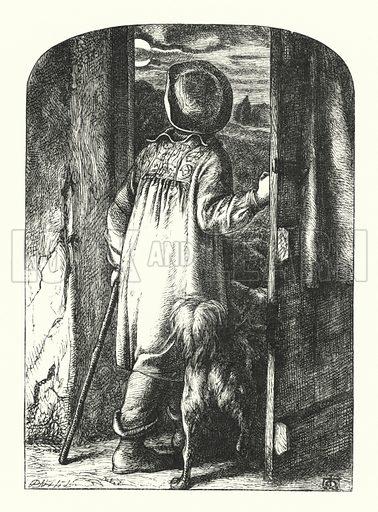 Moonlight. Illustration for English Sacred Poetry edited by Robert Aris Willmott (Routledge, 1862).
