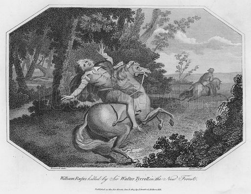 William Rufus killed by Sir Walter Tyrrell in the New Forest