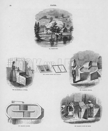 Paper. From Illustrations of Useful Arts and Manufactures by Charles Tomlinson (SPCK, c 1860).