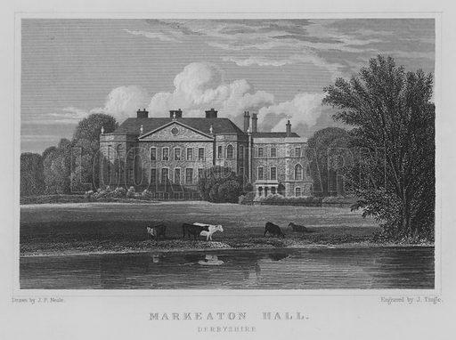 Markeaton Hall, Derbyshire. Illustration for Jones' Views of the Seats, Mansions, Castles, etc of Noblemen and Gentlemen of England, Wales, Scotland and Ireland (Jones, 1829).