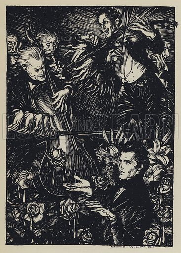 Illustration for Maud, A Monodrama, by Alfred Lord Tennyson (Macmillan, 1922).