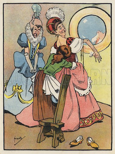 Cinderella helps her Sisters to dress