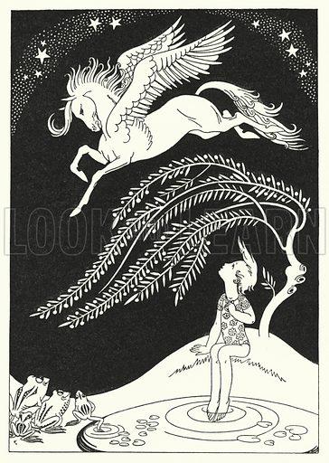 Downward came Pegasus, in wide sweeping circles