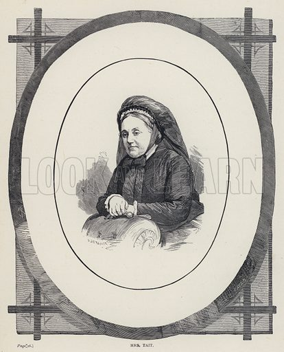 Mrs Tait. Illustration for The Sunday Book of Biography (Hodder and Stoughton, 1887).