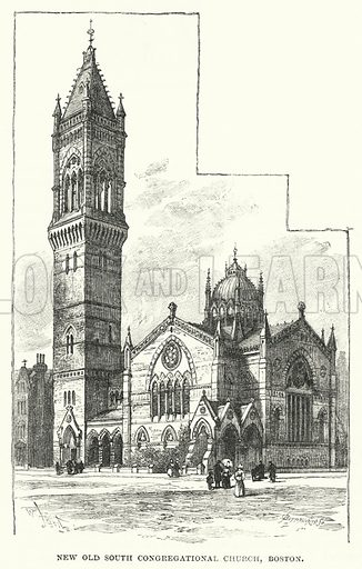 New Old South Congregational Church, Boston. Illustration for The Sunday At Home, 1889/90.