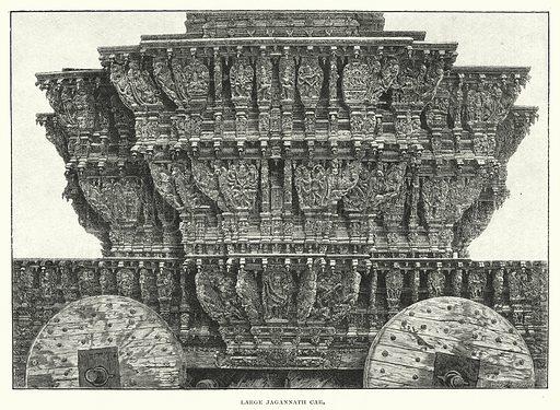 Large Jagannath Car. Illustration for The Sunday At Home, 1892/93.