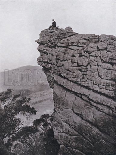 The Pinnacle, Grampians. Illustration for Souvenir of Victoria and its Metropolis and the Leading Inland Cities (Osboldstone, c 1910).