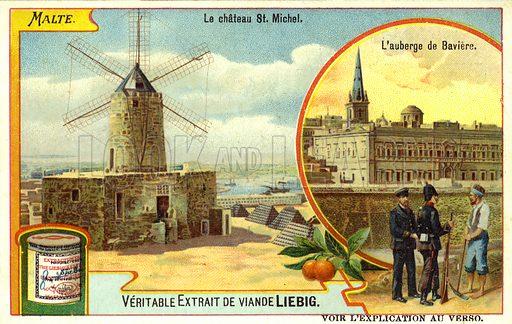 Fort Saint Michael, Senglea, and the Auberge de Baviere, … stock ...