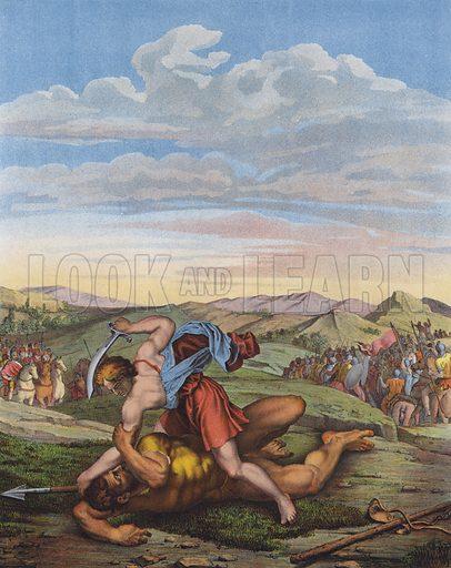 David defeating Goliath