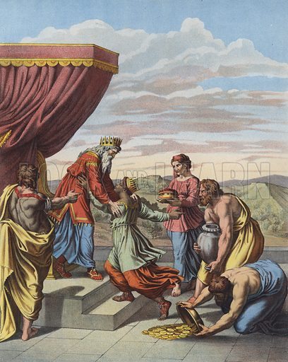 King Solomon receiving the Queen of Sheba.
