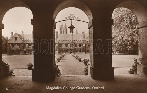 Magdalen College, Oxford, view from New Buildings towards Cloisters