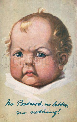 Grumpy baby crying
