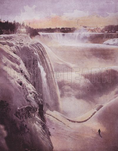 Winter at Niagara. Illustration for America's Wonderlands, A Pictorial and Descriptive History of our Country's Scenic Marvels, by J W Buel (Historical Publishing Company, Philadelphia, 1893).