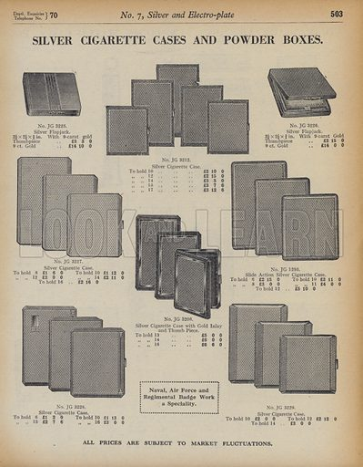 Illustration for catalogue of Army & Navy Stores Ltd, 105 Victoria Street, London, SW1, 1939–40.