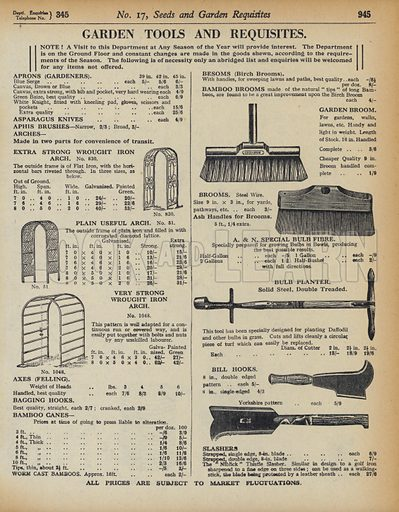 Illustration for catalogue of Army & Navy Stores Ltd, 105 Victoria Street, London, SW1, 1939-40.