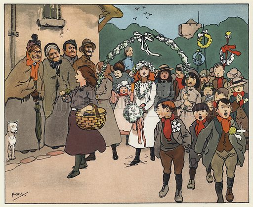 May Day. Illustration for Barbara