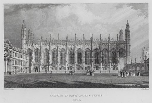 Exterior of King's College Chapel, 1841