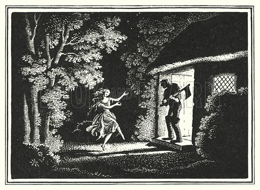 The Red Shoes. Illustration for Fairy Tales and Legends by Hans Andersen illustrated by Rex Whistler (Cobden Sanderson, 1935).