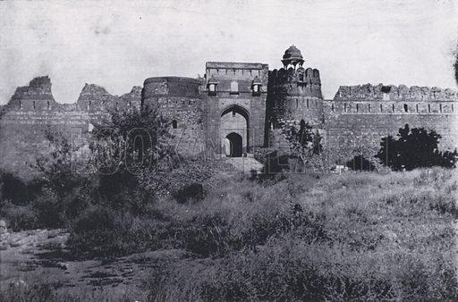Old Fort, Delhi. Illustration for Album of Delhi Guide (Lal Chand, c 1910).
