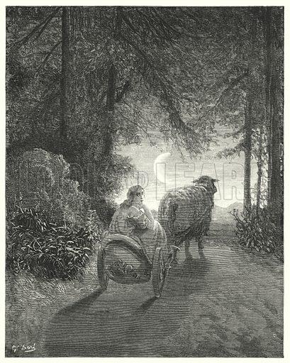 Peau-D'Ane; Donkey Skin.  Illustration for Les Contes de Perrault (J Hetzel, 1869).