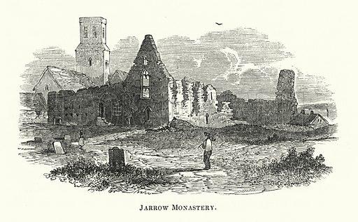 Jarrow Monastery. Illustration for The Borderer's Table Book by MA Richardson (Henry G Bohn, 1846).