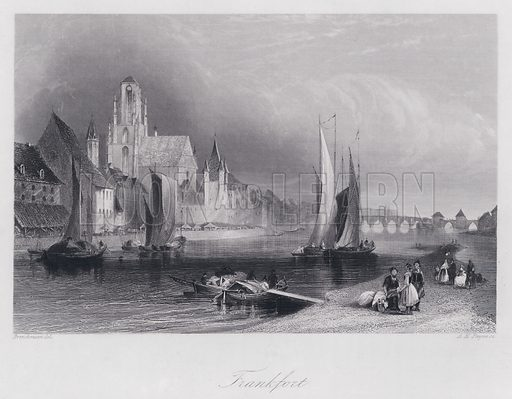 Frankfort. Illustration for Pictus Orbis or Book of Beauty for Every Table (A H Payne, c 1860).
