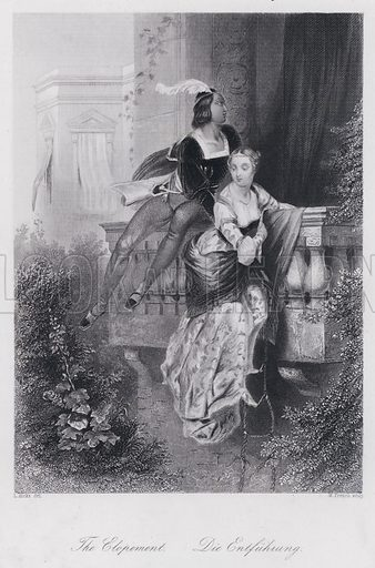 The Elopement. Illustration for Pictus Orbis or Book of Beauty for Every Table (A H Payne, c 1860).