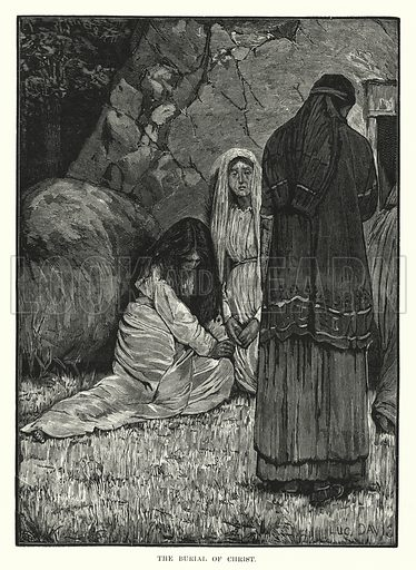 The Burial of Christ. Illustration for The Child's Life of Christ with Original Illustrations (Cassell, 1882).