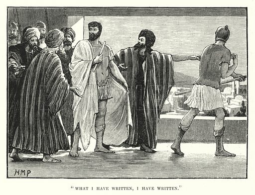 """What I have written, I have written."" Illustration for The Child's Life of Christ with Original Illustrations (Cassell, 1882)."
