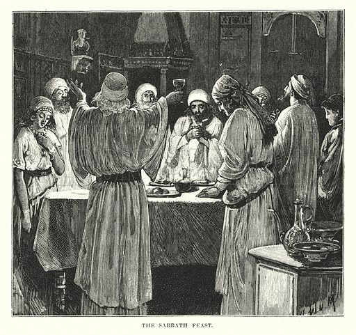 The Sabbath Feast. Illustration for The Child's Life of Christ with Original Illustrations (Cassell, 1882).