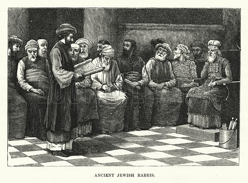 Ancient Jewish Rabbis. Illustration for The Child's Life of Christ with Original Illustrations (Cassell, 1882).