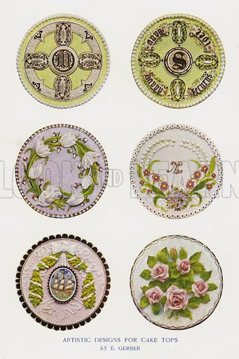 Artistic Designs for Cake Tops by E Gerber