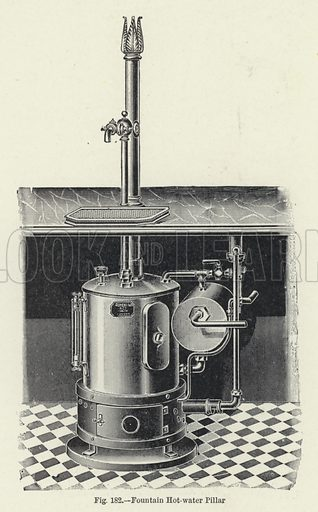 Fountain Hot-water Pillar. Illustration for The Modern Baker Confectioner and Caterer and John Kirkland (Gresham, 1924).