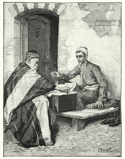 An Eastern writer sealing a letter