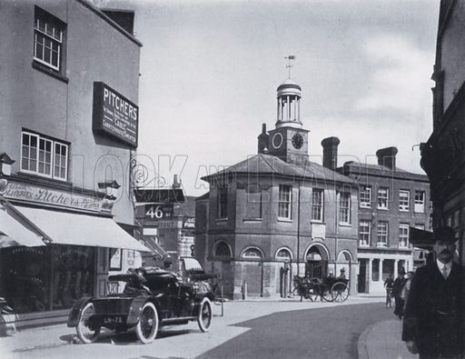Godalming Old Town Hall. Illustration for Godalming, Charterhouse and District (A C Curtis, 1921).