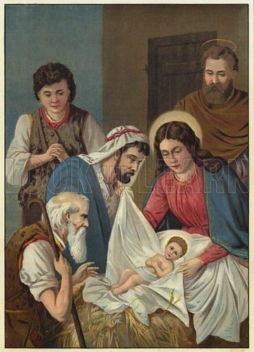 The Nativity. Illustration from Friede Sei Mit Diesem Hause! (Richard Hermann Dietrich, Dresden, 1903).